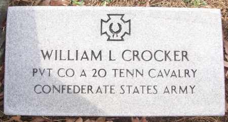 CROCKER (VETERAN CSA), WILLIAM L - White County, Arkansas | WILLIAM L CROCKER (VETERAN CSA) - Arkansas Gravestone Photos