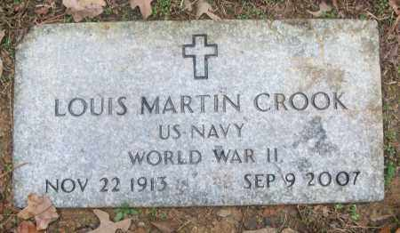 CROOK  (VETERAN WWII), LOUIS MARTIN - White County, Arkansas | LOUIS MARTIN CROOK  (VETERAN WWII) - Arkansas Gravestone Photos