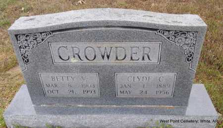 CROWDER, CLYDE C. - White County, Arkansas | CLYDE C. CROWDER - Arkansas Gravestone Photos