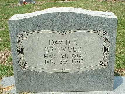 CROWDER, DAVID F - White County, Arkansas | DAVID F CROWDER - Arkansas Gravestone Photos