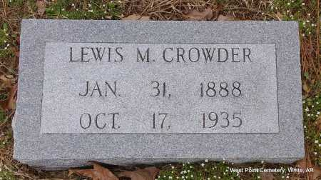 CROWDER, LEWIS M. - White County, Arkansas | LEWIS M. CROWDER - Arkansas Gravestone Photos