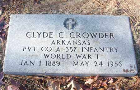 CROWDER (VETERAN WWI), CLYDE C - White County, Arkansas | CLYDE C CROWDER (VETERAN WWI) - Arkansas Gravestone Photos