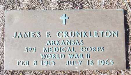 CRUNKLETON (VETERAN WWII), JAMES E - White County, Arkansas | JAMES E CRUNKLETON (VETERAN WWII) - Arkansas Gravestone Photos