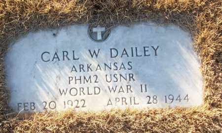 DAILEY (VETERAN WWII), CARL W - White County, Arkansas | CARL W DAILEY (VETERAN WWII) - Arkansas Gravestone Photos