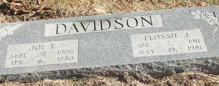 DAVIDSON, JOE E. - White County, Arkansas | JOE E. DAVIDSON - Arkansas Gravestone Photos