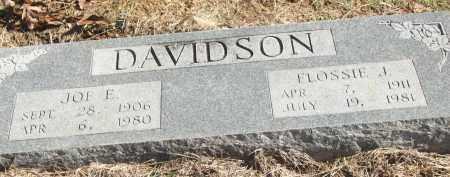 DAVIDSON, FLOSSIE J. - White County, Arkansas | FLOSSIE J. DAVIDSON - Arkansas Gravestone Photos