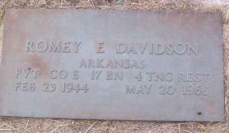 DAVIDSON (VETERAN), ROMEY E - White County, Arkansas | ROMEY E DAVIDSON (VETERAN) - Arkansas Gravestone Photos