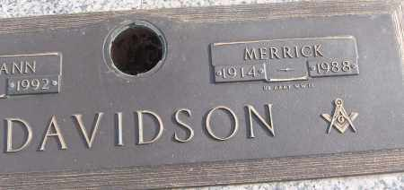 DAVIDSON (VETERAN WWII), MERRICK - White County, Arkansas | MERRICK DAVIDSON (VETERAN WWII) - Arkansas Gravestone Photos