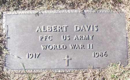 DAVIS (VETERAN  WWII), ALBERT - White County, Arkansas | ALBERT DAVIS (VETERAN  WWII) - Arkansas Gravestone Photos