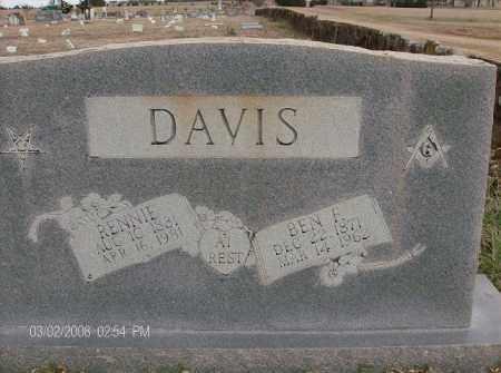 MOORE DAVIS, RENNIE - White County, Arkansas   RENNIE MOORE DAVIS - Arkansas Gravestone Photos