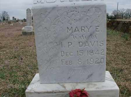 DAVIS, MARY E - White County, Arkansas | MARY E DAVIS - Arkansas Gravestone Photos