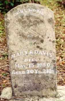 MOONEY DAVIS, MARY A - White County, Arkansas | MARY A MOONEY DAVIS - Arkansas Gravestone Photos
