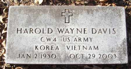 DAVIS (VETERAN 2 WARS), HAROLD WAYNE - White County, Arkansas | HAROLD WAYNE DAVIS (VETERAN 2 WARS) - Arkansas Gravestone Photos
