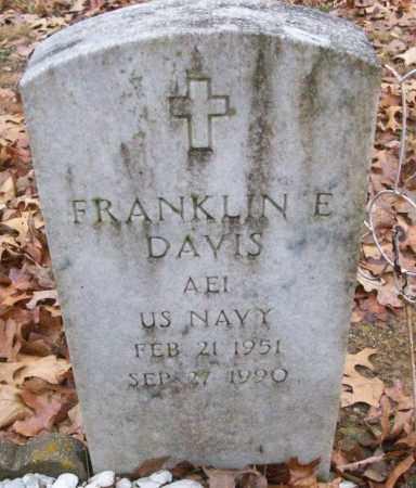 DAVIS (VETERAN), FRANKLIN E - White County, Arkansas | FRANKLIN E DAVIS (VETERAN) - Arkansas Gravestone Photos