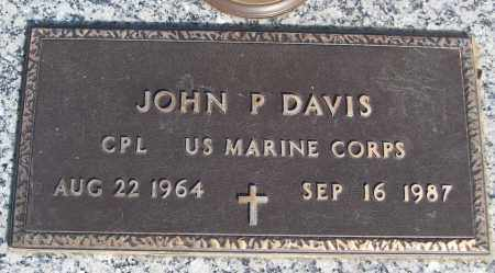 DAVIS (VETERAN), JOHN P - White County, Arkansas | JOHN P DAVIS (VETERAN) - Arkansas Gravestone Photos