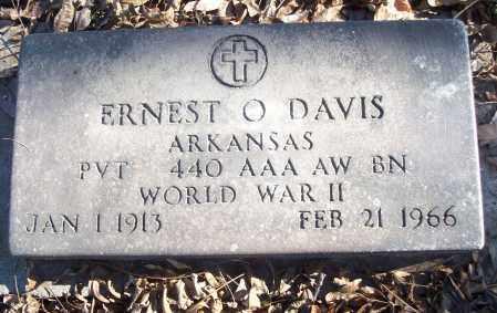 DAVIS (VETERAN WWII), ERNEST O - White County, Arkansas | ERNEST O DAVIS (VETERAN WWII) - Arkansas Gravestone Photos