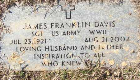 DAVIS (VETERAN WWII), JAMES FRANKLIN - White County, Arkansas | JAMES FRANKLIN DAVIS (VETERAN WWII) - Arkansas Gravestone Photos
