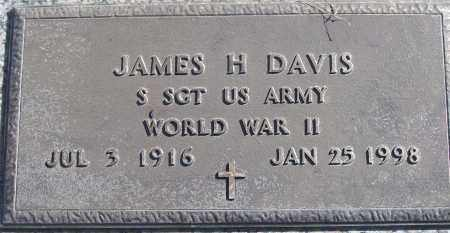 DAVIS (VETERAN WWII), JAMES H - White County, Arkansas | JAMES H DAVIS (VETERAN WWII) - Arkansas Gravestone Photos