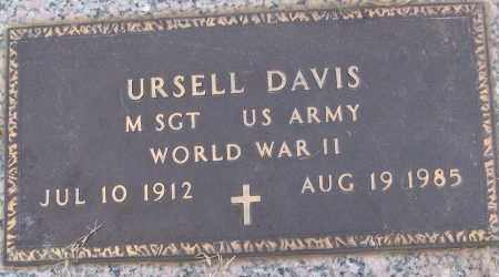 DAVIS (VETERAN WWII), URSELL - White County, Arkansas | URSELL DAVIS (VETERAN WWII) - Arkansas Gravestone Photos