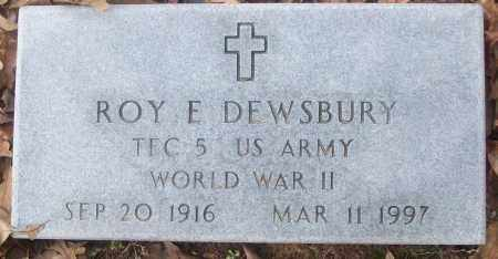 DEWSBURY  (VETERAN WWII), ROY E. - White County, Arkansas | ROY E. DEWSBURY  (VETERAN WWII) - Arkansas Gravestone Photos