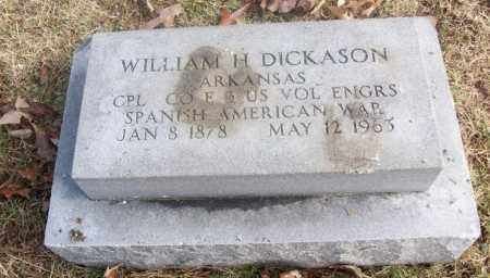 DICKASON  (VETERAN SAW), WILLIAM  H - White County, Arkansas | WILLIAM  H DICKASON  (VETERAN SAW) - Arkansas Gravestone Photos