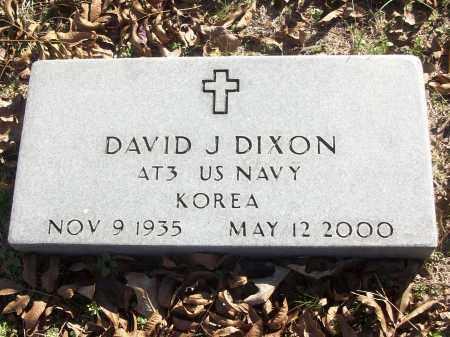 DIXON (VETERAN KOR), DAVID J - White County, Arkansas | DAVID J DIXON (VETERAN KOR) - Arkansas Gravestone Photos