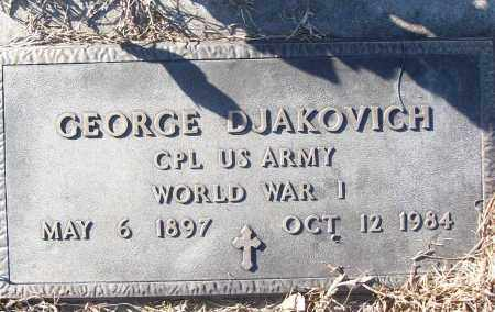 DJAKOVICH (VETERAN WWI), GEORGE - White County, Arkansas | GEORGE DJAKOVICH (VETERAN WWI) - Arkansas Gravestone Photos