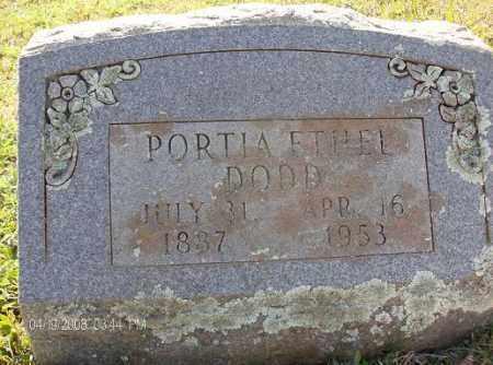 DODD, PORTIA ETHEL - White County, Arkansas | PORTIA ETHEL DODD - Arkansas Gravestone Photos