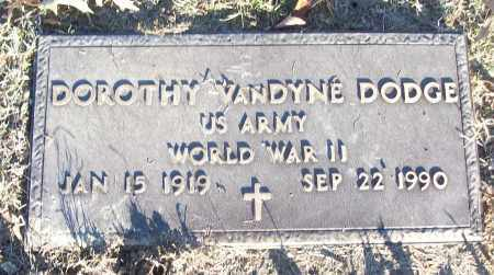 VANDYNE DODGE (VETERAN WWII), DOROTHY - White County, Arkansas | DOROTHY VANDYNE DODGE (VETERAN WWII) - Arkansas Gravestone Photos