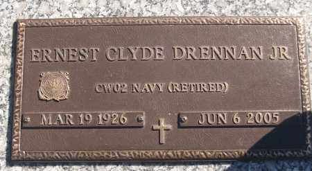 DRENNAN, JR (VETERAN), ERNEST CLYDE - White County, Arkansas | ERNEST CLYDE DRENNAN, JR (VETERAN) - Arkansas Gravestone Photos