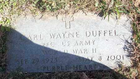 DUFFEL (VETERAN WWII), CARL WAYNE - White County, Arkansas | CARL WAYNE DUFFEL (VETERAN WWII) - Arkansas Gravestone Photos