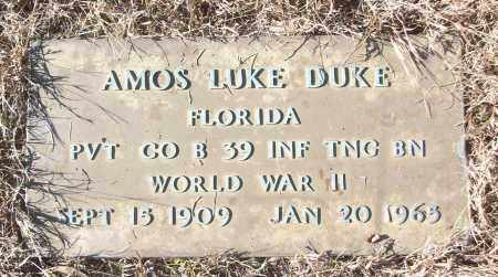 DUKE (VETERAN WWII), AMOS LUKE - White County, Arkansas | AMOS LUKE DUKE (VETERAN WWII) - Arkansas Gravestone Photos