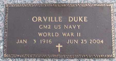 DUKE (VETERAN WWII), ORVILLE - White County, Arkansas | ORVILLE DUKE (VETERAN WWII) - Arkansas Gravestone Photos