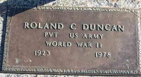 DUNCAN (VETERAN WWII), ROLAND C - White County, Arkansas | ROLAND C DUNCAN (VETERAN WWII) - Arkansas Gravestone Photos