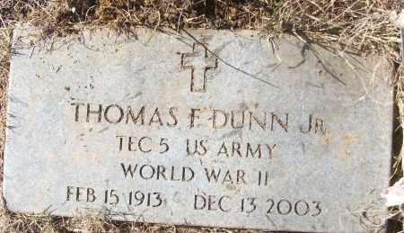 DUNN, JR (VETERAN WWII), THOMAS F - White County, Arkansas | THOMAS F DUNN, JR (VETERAN WWII) - Arkansas Gravestone Photos