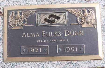 DUNN (VETERAN WWII), ALMA - White County, Arkansas | ALMA DUNN (VETERAN WWII) - Arkansas Gravestone Photos