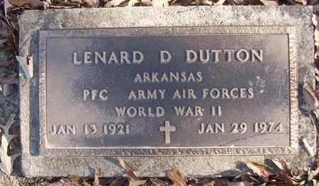 DUTTON (VETERAN WWII), LENARD D - White County, Arkansas | LENARD D DUTTON (VETERAN WWII) - Arkansas Gravestone Photos