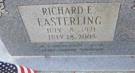 EASTERLING  (VETERAN WWII), RICHARD E - White County, Arkansas | RICHARD E EASTERLING  (VETERAN WWII) - Arkansas Gravestone Photos