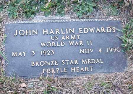 EDWARDS  (VETERAN WWII), JOHN HARLIN - White County, Arkansas | JOHN HARLIN EDWARDS  (VETERAN WWII) - Arkansas Gravestone Photos