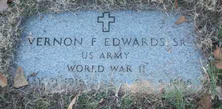 EDWARDS, SR (VETERAN WWII), VERNON F - White County, Arkansas | VERNON F EDWARDS, SR (VETERAN WWII) - Arkansas Gravestone Photos
