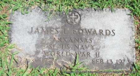 EDWARDS (VETERAN WWII), JAMES L - White County, Arkansas | JAMES L EDWARDS (VETERAN WWII) - Arkansas Gravestone Photos