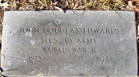 EDWARDS (VETERAN WWII), JOHN DOUGLAS - White County, Arkansas | JOHN DOUGLAS EDWARDS (VETERAN WWII) - Arkansas Gravestone Photos