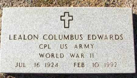 EDWARDS (VETERAN WWII), LEALON COLUMBUS - White County, Arkansas | LEALON COLUMBUS EDWARDS (VETERAN WWII) - Arkansas Gravestone Photos
