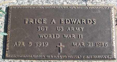 EDWARDS (VETERAN WWII), PRICE A - White County, Arkansas | PRICE A EDWARDS (VETERAN WWII) - Arkansas Gravestone Photos