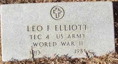 ELLIOTT (VETERAN WWII), LEO F - White County, Arkansas | LEO F ELLIOTT (VETERAN WWII) - Arkansas Gravestone Photos