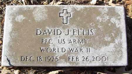 ELLIS (VETERAN WWII), DAVID J - White County, Arkansas | DAVID J ELLIS (VETERAN WWII) - Arkansas Gravestone Photos