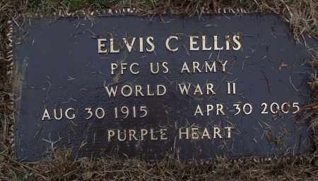 ELLIS (VETERAN WWII), ELVIS C - White County, Arkansas | ELVIS C ELLIS (VETERAN WWII) - Arkansas Gravestone Photos