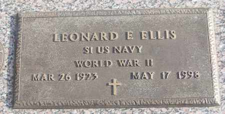 ELLIS (VETERAN WWII), LEONARD E - White County, Arkansas | LEONARD E ELLIS (VETERAN WWII) - Arkansas Gravestone Photos