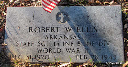 ELLIS (VETERAN WWII), ROBERT W - White County, Arkansas | ROBERT W ELLIS (VETERAN WWII) - Arkansas Gravestone Photos