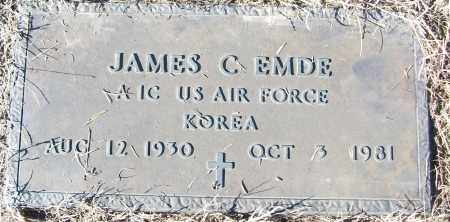 EMDE (VETERAN KOR), JAMES C - White County, Arkansas | JAMES C EMDE (VETERAN KOR) - Arkansas Gravestone Photos